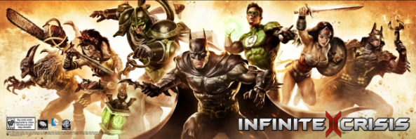 Infinite Crisis - 7 character key art