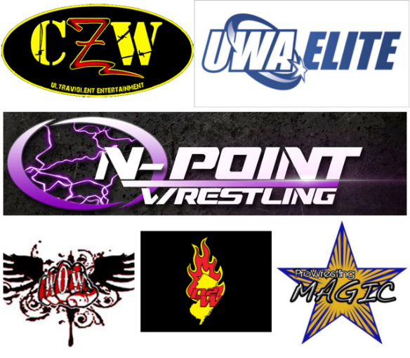 Indy wrestling calendar for October and November 2015, from Funkenstein Wrestling Superstore.