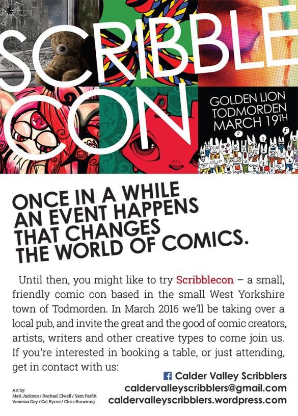 ScribbleCon 2016 comic con Todmorden